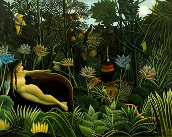 Henri Rousseau: The Dream. Fine Art Print/Poster (00559)
