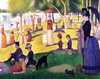 Georges Seurat: Sunday Afternoon. Fine Art Print/Poster (00243)