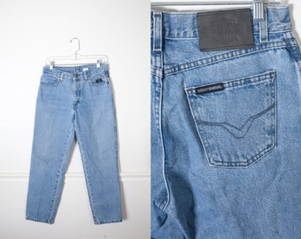90s Grunge Jeans, High Waisted Jeans, Harley Davidson Jeans, Straight Leg Jeans, 80s Jeans, Boyfriend Jeans Relaxed Fit Jeans Biker jeans 29