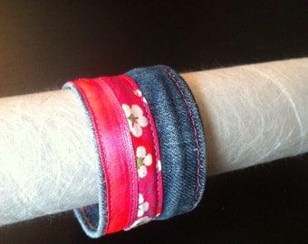 Bracelet jeans pink LOOK-A