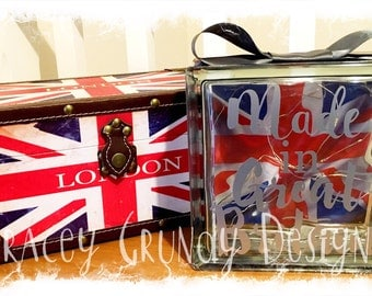 Glass Block Light - Union Jack 'Made in Great Britain'