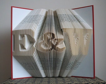 Valentines Gift - Book Art - Anniversary Gift - 1st Wedding Anniversary -Gift for Him - Gift for Her - Wedding Present - Personalized Gift