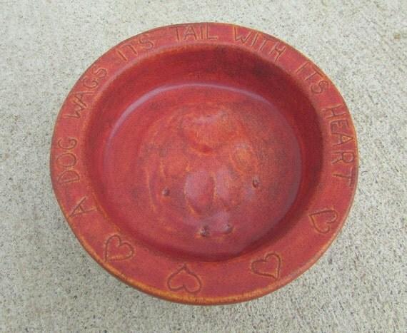 Ceramic Dog Bowl -- Handmade Joe Bowl Jr. in Rustic Sunset, Small dog bowl