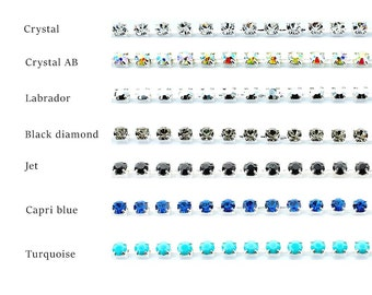 Rhinestone chain 3mm SS12 silver plated from Preciosa.  Price is for 1 meter
