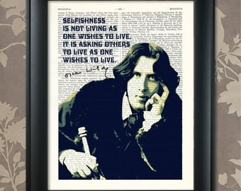 Oscar Wilde / Oscar Wilde quote, Oscar Wilde art, Oscar Wilde poster, Oscar Wilde gift, Oscar Wilde decor, Oscar Wilde print, writer