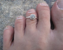 Moon Stone Silver Toe Ring, Moon Stone Upper finger Silver ring, Moon Stone Silver Ring