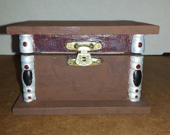 Handpainted & Decorated Trinket Box