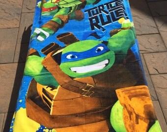 TMNT Teenage Mutant Ninja Turtles Rule! Beach Towel - Personalized Beach Towel