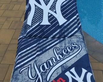 Baseball MLB New York YANKEES Beach Towel Stripes Personalized Beach Towel