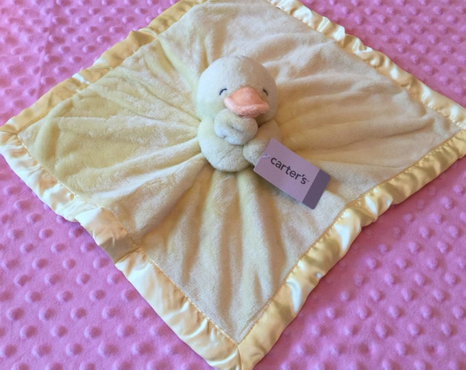 Carter's Yellow Duck Duckie Security Blanket Lovey - Monogrammed