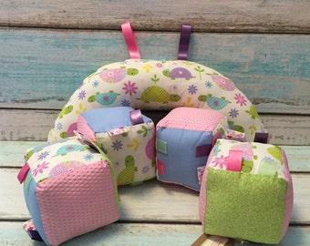 Turtletastic Plush Block and Tummy Time Pillow