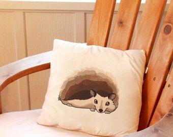Hedgie - hedgehog -Throw Pillow, Pillow Cover, Decorative Pillow, Quote Pillow Cover, Pillow Case