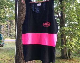 Rare Vintage 1980's Coca Cola Tank Top XL New Old Stock