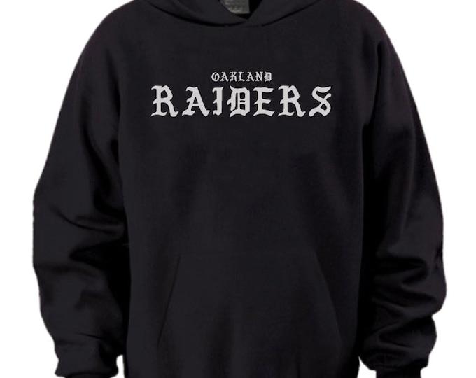 Oakland Raiders Silver Black Hoodie Black I Feel Like Pablo Yeezus Kanye