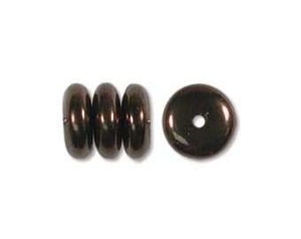 Czech Glass 6mm Discs - Dark Bronze - Pack 50