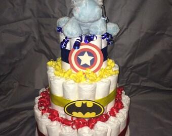 Superhero Diapercake