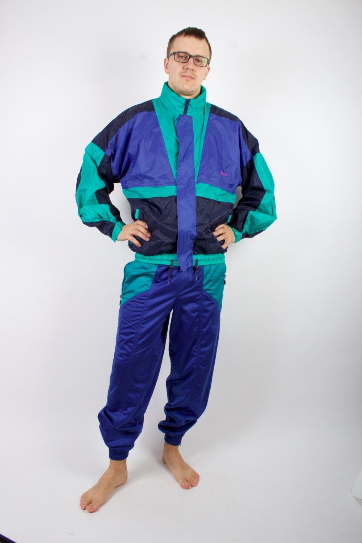 sports suit vintage athletic jacket running suit 80s