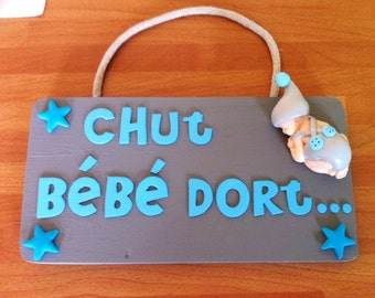 Personalized baby door plaque