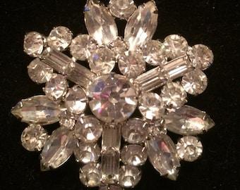 Weiss Crystal Rhinestone Brooch / Pin