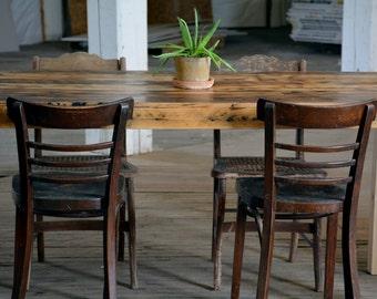 Farmhouse Dining Table - Reclaimed barnwood dining room table - custom sizes available