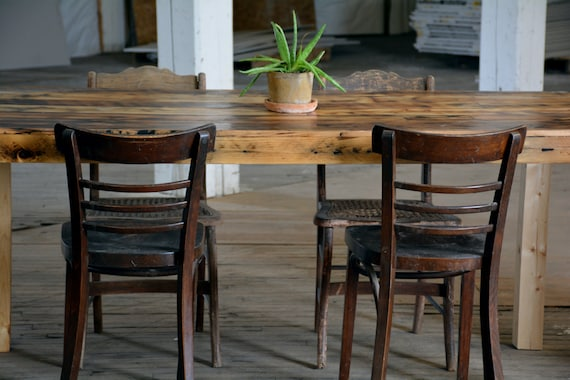 Farmhouse Dining Table Reclaimed barnwood dining room table