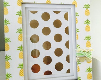 4x6 Gold Picture Frame with Pineapples