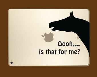 Horse Eating Apple for iPad 9.7 inch Portrait or landscape versions
