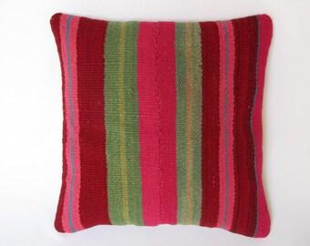Peruvian pillow, decorative pillows, Peru, geometric pillow, Peruvian fabric, Peruvian decoration. (16 x 16 inches) (40x40cm) CR-155