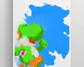 Mario Brothers - Yoshi Poster