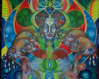 acrylic painting ,visionary art