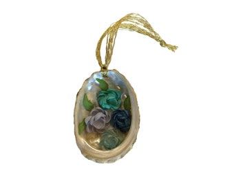 Blue Abalone Seashell Ornament