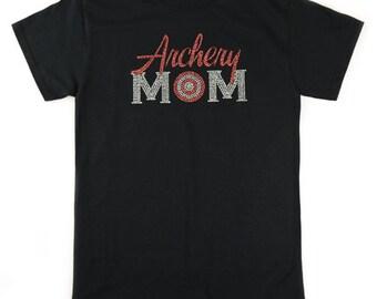 Archery Mom Bling Rhinestone T-Shirt
