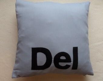 Handmade 'DEL' Cushion