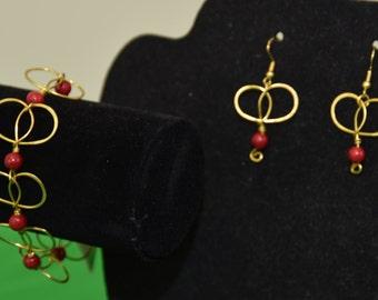 Celtic Knot Bracelet and Earring Set