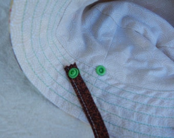 Snap on Hat Straps for Sun Hats Ships Free with Sun Hat Purchase Add on For Sun Hats Ties for Sun Hats