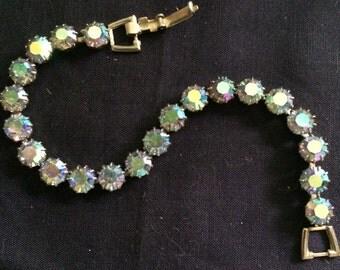 Weiss Signed Aurora Borealis Bracelet