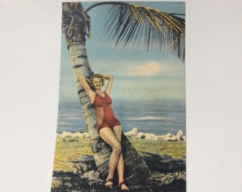 WWII Era Pin Up Postcard