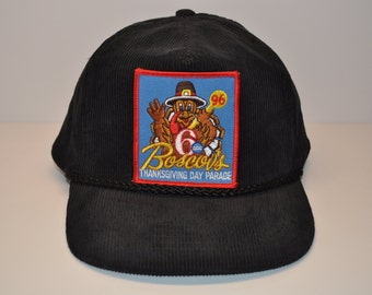 Vintage 1996 Boscov's Channel 6 ABC Thanksgiving Day Parade Black Corduroy Snapback Hat