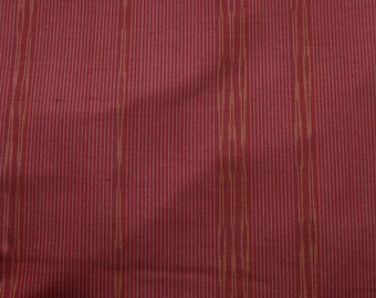 Vintage Japanese Silk Kimono Fabric Tsumugi Stripes