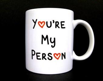 Girlfriend gift, gift for her, Gift for girlfriend, girlfriend valentine, you're my person, valentines girlfriend, valentine girlfriend