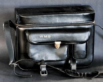 Leather Camera Bag / Case Black Leather in GReAT SHAPE ! Vintage SLR DSLR Bag NiCE !