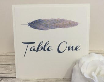 Boho Table Number