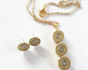 Federal 45 triple Necklace & earrings