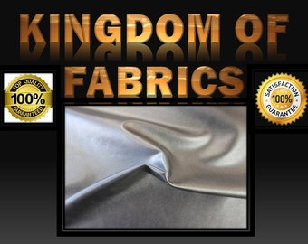 2-Way Stretch Faux Leather Fabric Silver. Sold by the yard.