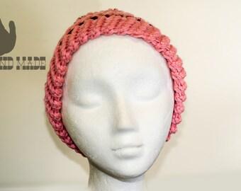 Dark pink rose hat