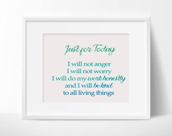 Wall Art - Quote - Reiki Prayer - Reiki Principles - Instant Digital Download