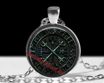 Vegvisir pendant, viking amulet, viking jewelry, vegvisir necklace, viking compass, pagan necklace, magic pendant, nordic jewelry #231
