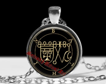18 BATHIN demon seal pendant, Goetia sigil necklace, Lemegeton jewelry, Lesser Key, occult jewelry, summoning demon ritual amulet #104.18