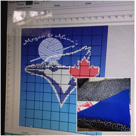 Knitting Graph Paper Uk : Toronto blue jays mlb blanket graphghan c