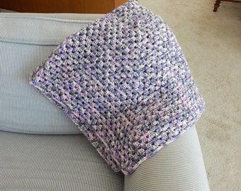 Crocheted Afghan for a Couch Throw, lap throw, crib blanket, stroller blanket, blanket,crocheted throw,lap blanket,home and living, bedding